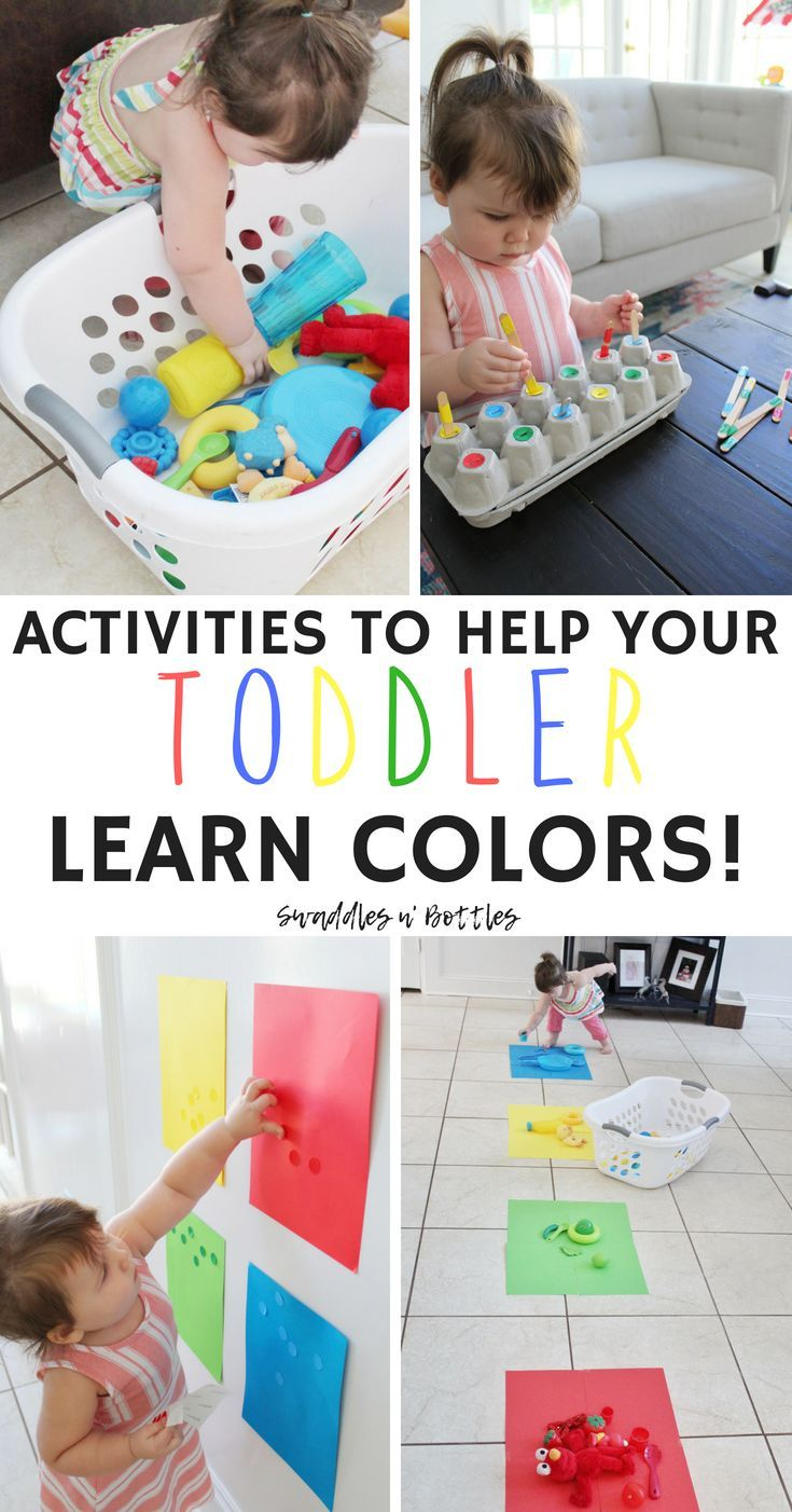 Fun Activities to Help Your Toddler Learn Colors! #learning
