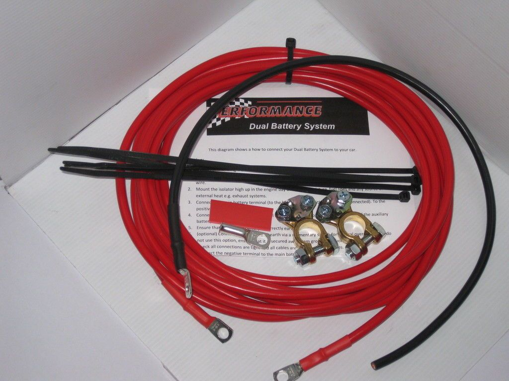PERFORMANCE DUAL BATTERY SYSTEM WIRING KIT 4X4 12V | RV-Trailer-and ...