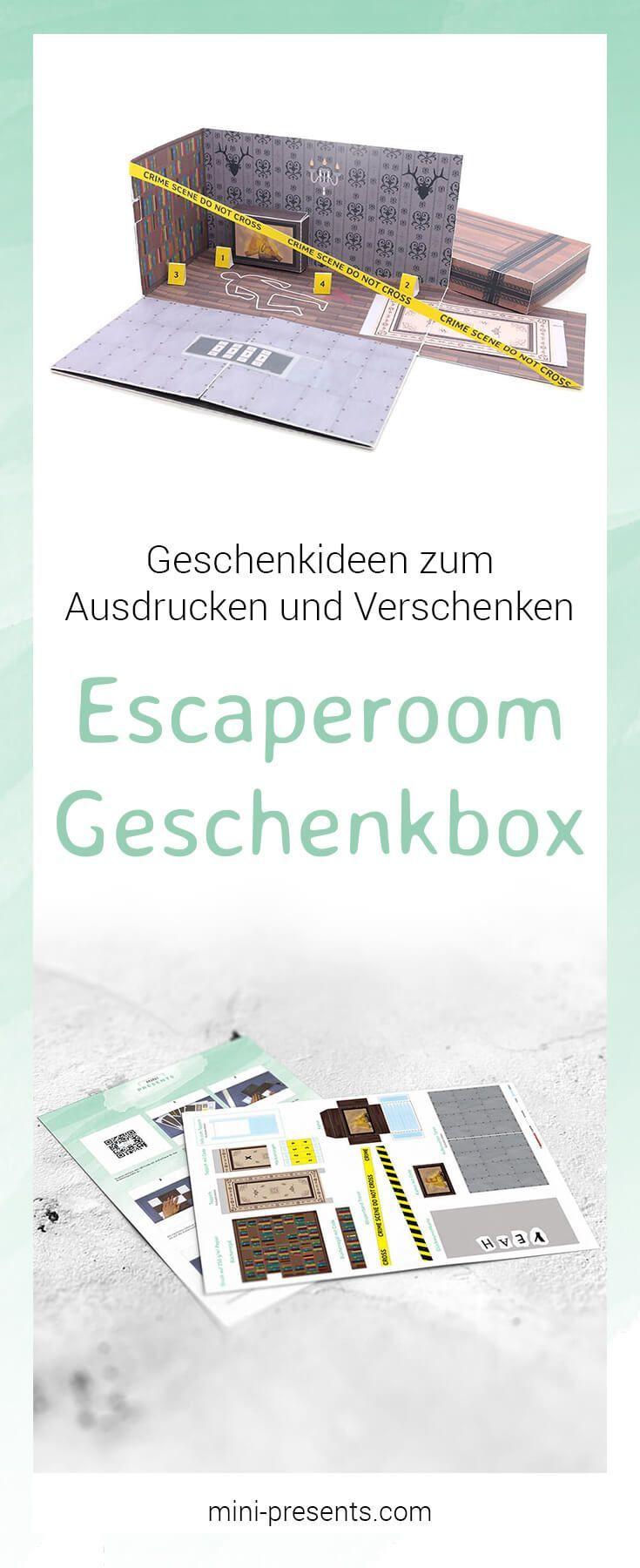 Photo of mini-presents | Do-it-yourself Escape Room Geschenkbox als Gutschein ausdrucken & basteln | Geschenkideen & Party Deko zum Ausdrucken und Basteln.