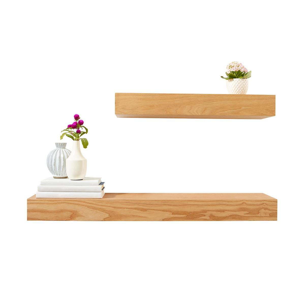 Ash Floating Shelves The Container Store 24 X 7 7 8 X 3 1 8 H Floating Shelves Floating Shelves Kitchen Ikea Floating Shelves