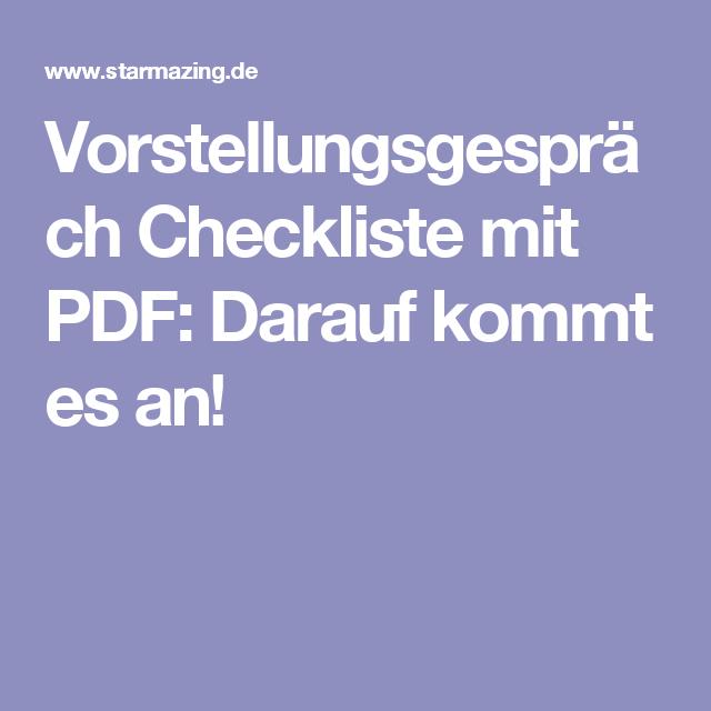 experten checkliste f r bewerbungs profis vorstellungsgespr ch checkliste mit pdf inspiration. Black Bedroom Furniture Sets. Home Design Ideas