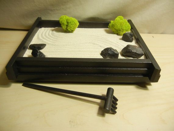 S 01 Small Desk Or Table Top Zen Garden Diy By Critterswoodworks Zen Garden Zen Garden Diy Diy Garden Decor