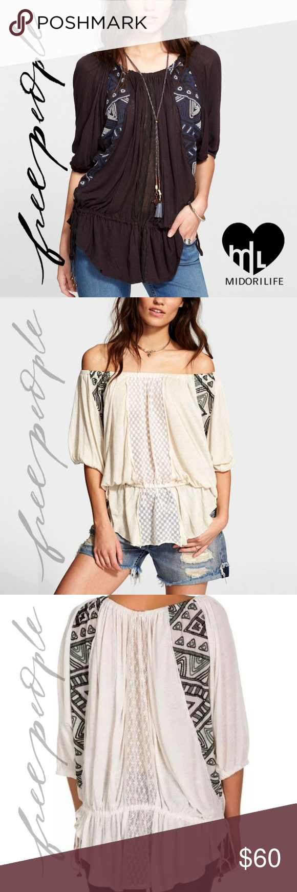 33cb28e6ecb FREE PEOPLE New World Off Butterfly Tunic Very versatile tribal-inspired  top. Wear off