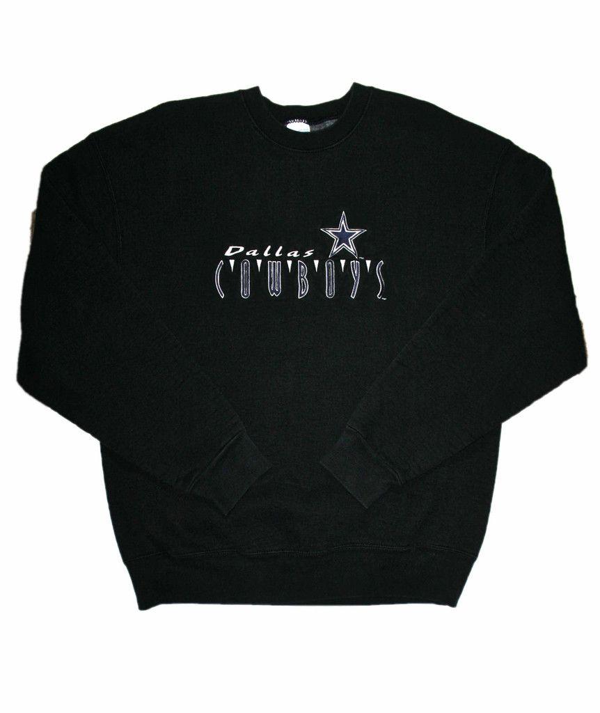 cb393ec92 Vintage 90s Dallas Cowboys Crewneck Sweatshirt Made in USA Mens Size XL   35.00