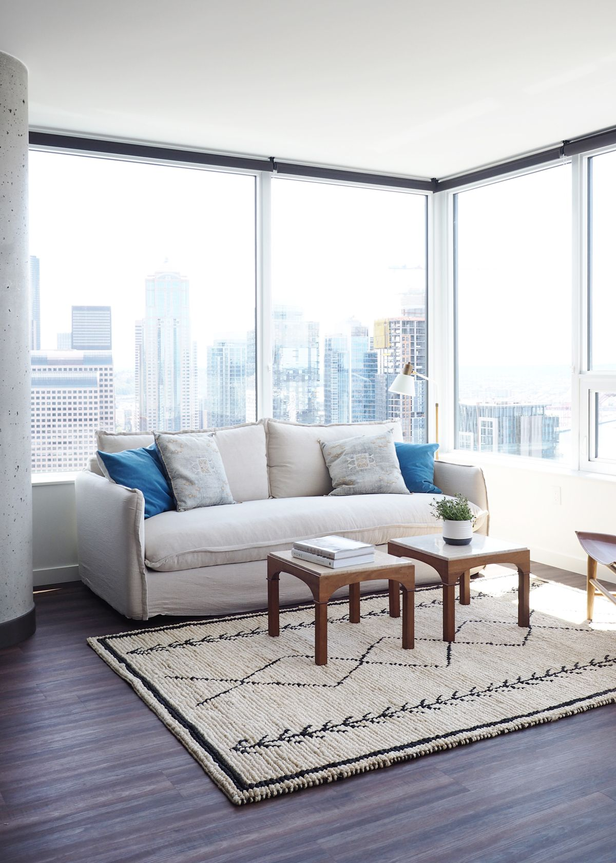 Everything You Need To Know About Our New Seattle Apartment Coco Kelley Seattle Apartment Beach House Decor Living Room Sitting Room Decor