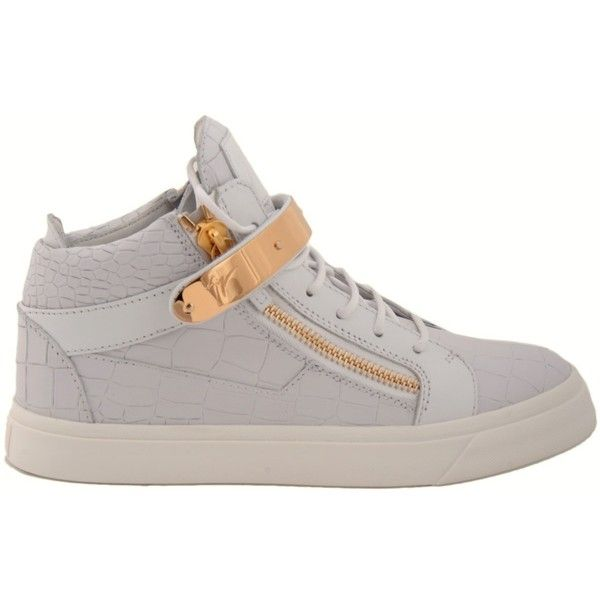 Giuseppe Zanotti Sneakers ($585) ❤ liked on Polyvore featuring shoes, sneakers, bianco, giuseppe zanotti sneakers, laced shoes, leather sneakers, leather trainers and laced up shoes