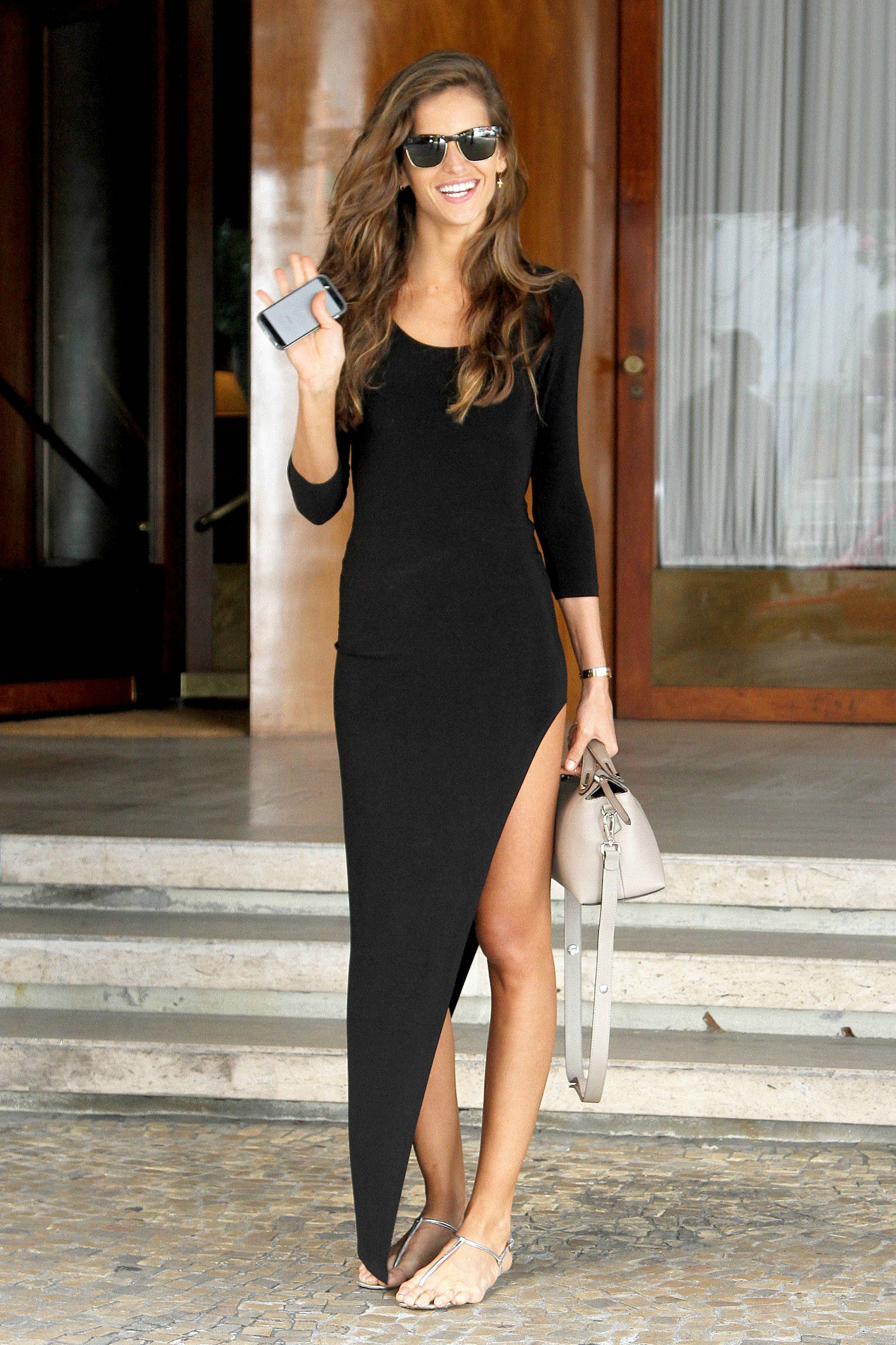 Izabel goulart spotted outside hotel in sao paulo hello color
