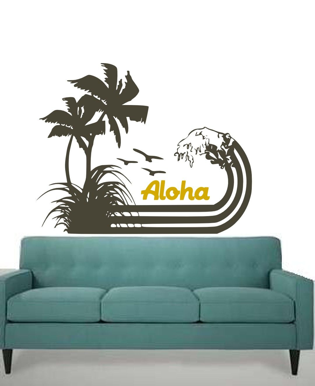 Hawaiian Style Palm And Coconut Trees CUSTOM Word By RdAveShore - Custom vinyl decals hawaii