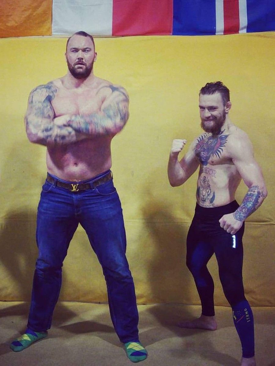 Body Build Conor Mcgregor And The Mountain From Game Of Thrones