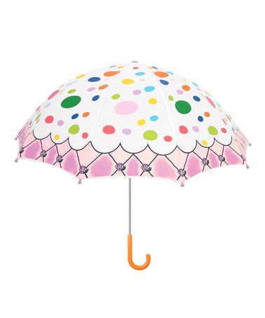 Pink Polka Dot The English Roses Umbrella by Kidorable #zulily #zulilyfinds