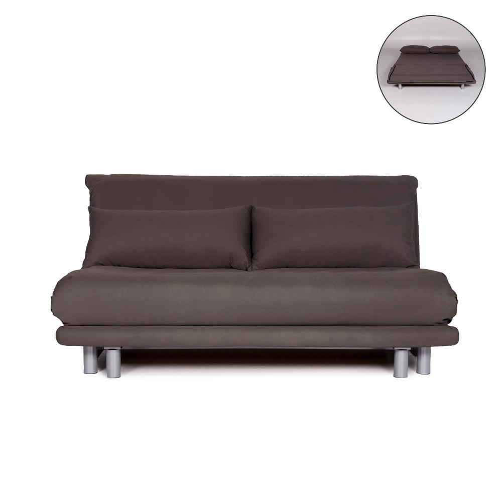 Ligne Roset Multy Stoff Schlafsofa Grau Zweisitzer Sofa
