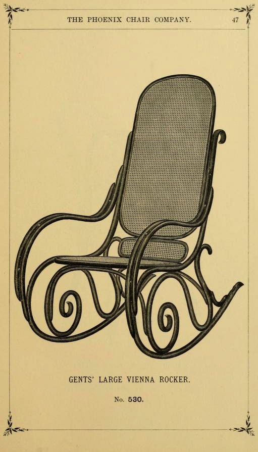 American Bent Wood Furniture, 1887. Phoenix Chair Co. From the Collection  of the