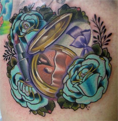 Makeup inspired tattoo.   Tattoo   Tattoos, Flower tattoos ...