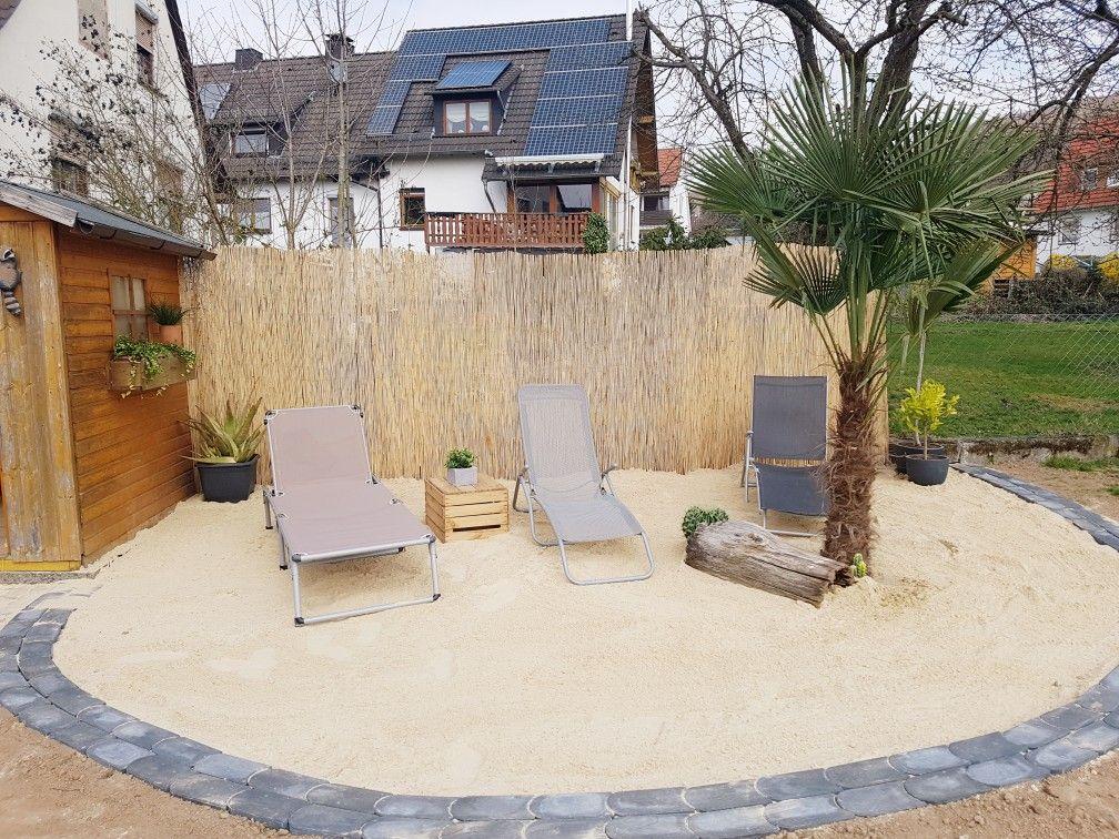 Strandecke Im Garten Kleine Hinterhof Pools Garten Hintergarten