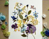 #Blume #Blumen #Dekor #gedrückt #gerahmt #Kinderzimmer