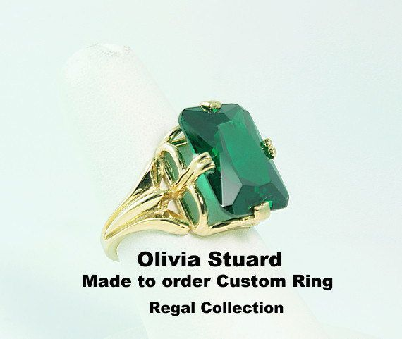 14kt Gold Emerald Rings, Made to order 14kt Gold Emerald Rings,14kt Gold rings in handmade, 14kt Yellow Gold Rings, 14kt Gold Rings