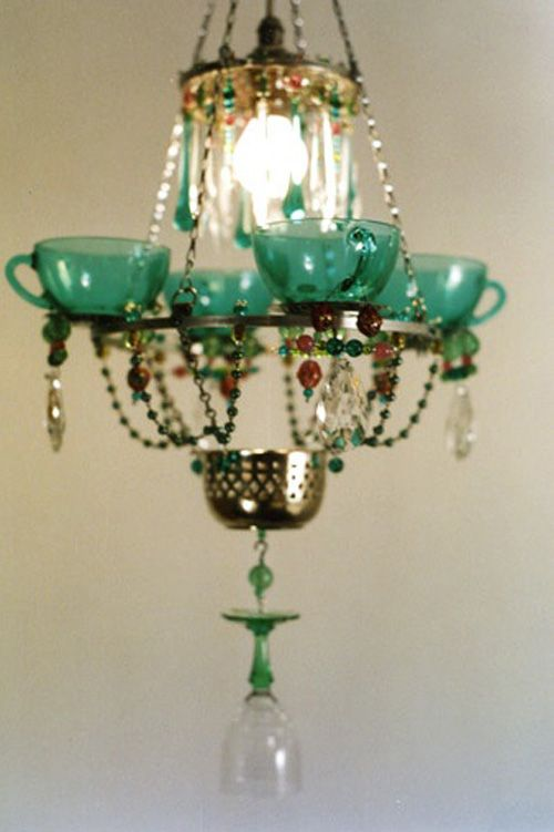 Madeleine Boulesteix Tea Cup Chandelier