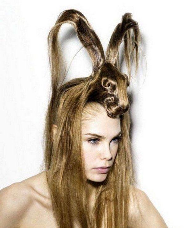 bunny hair art