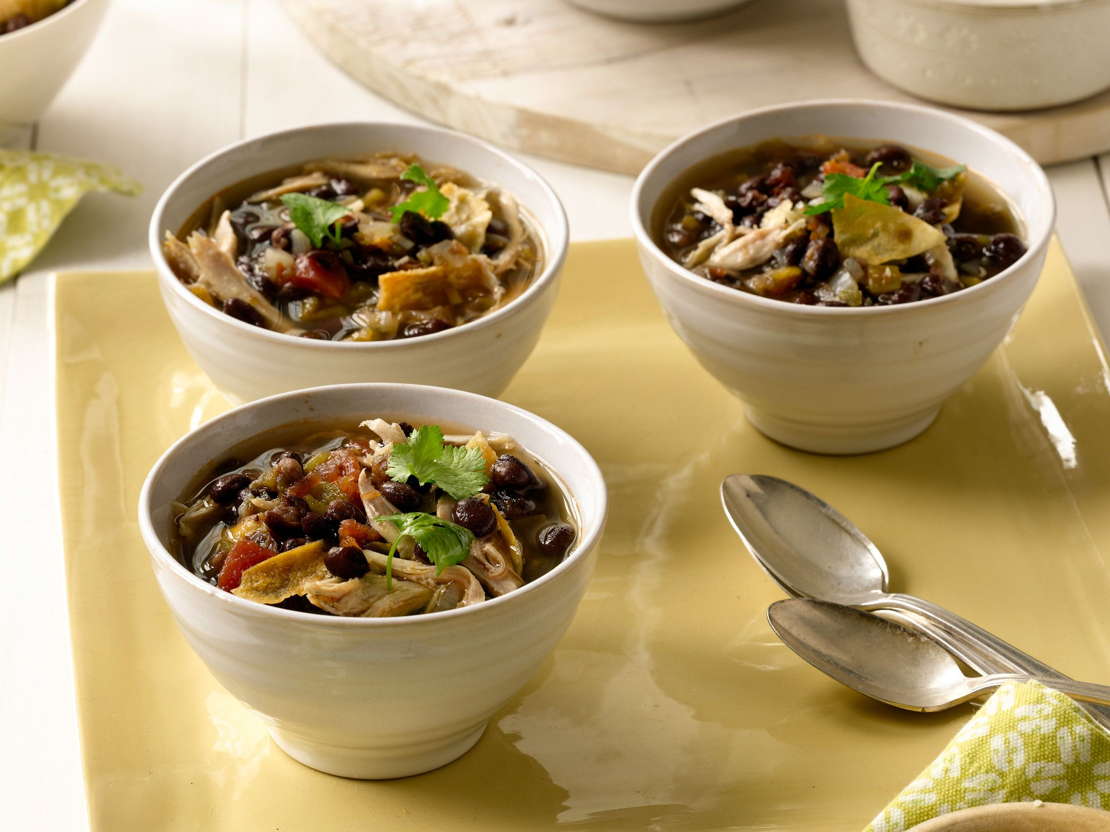 Slow Cooker Tortilla Soup Recipe : Melissa d'Arabian : Food Network #budgetfriendly