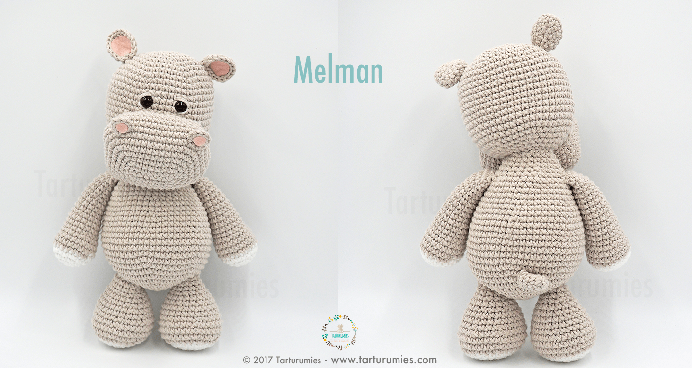Pattern Free Amigurumi Hippo Melman and his friend Pi Bird. Come to ...