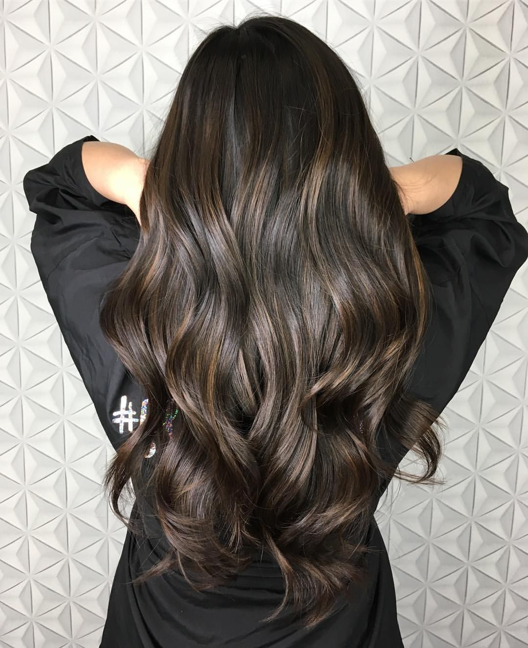 """Photo of Seattle Balayage Hairstylist on Instagram: """"Ash brown is seriously my favorite color to do! I just love how effortless it looks with dark hair. Kelsey came in wanting a Balayage but…"""""""