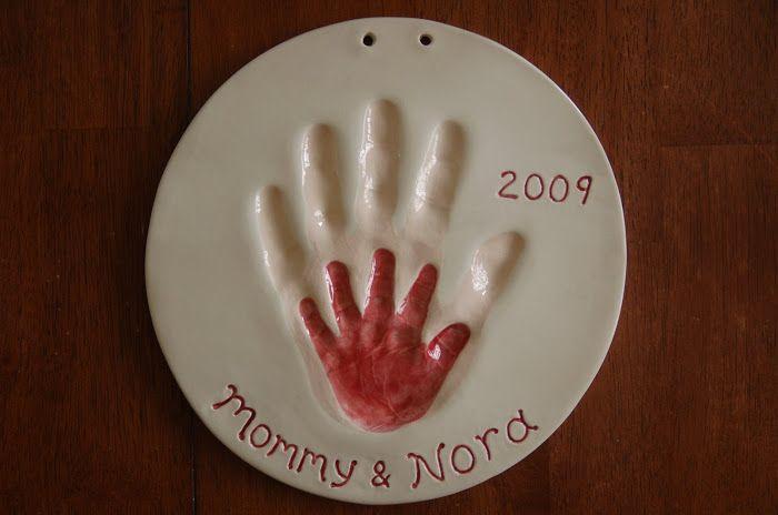 ceramic baby handprint kit online for baby cast in ceramic cl