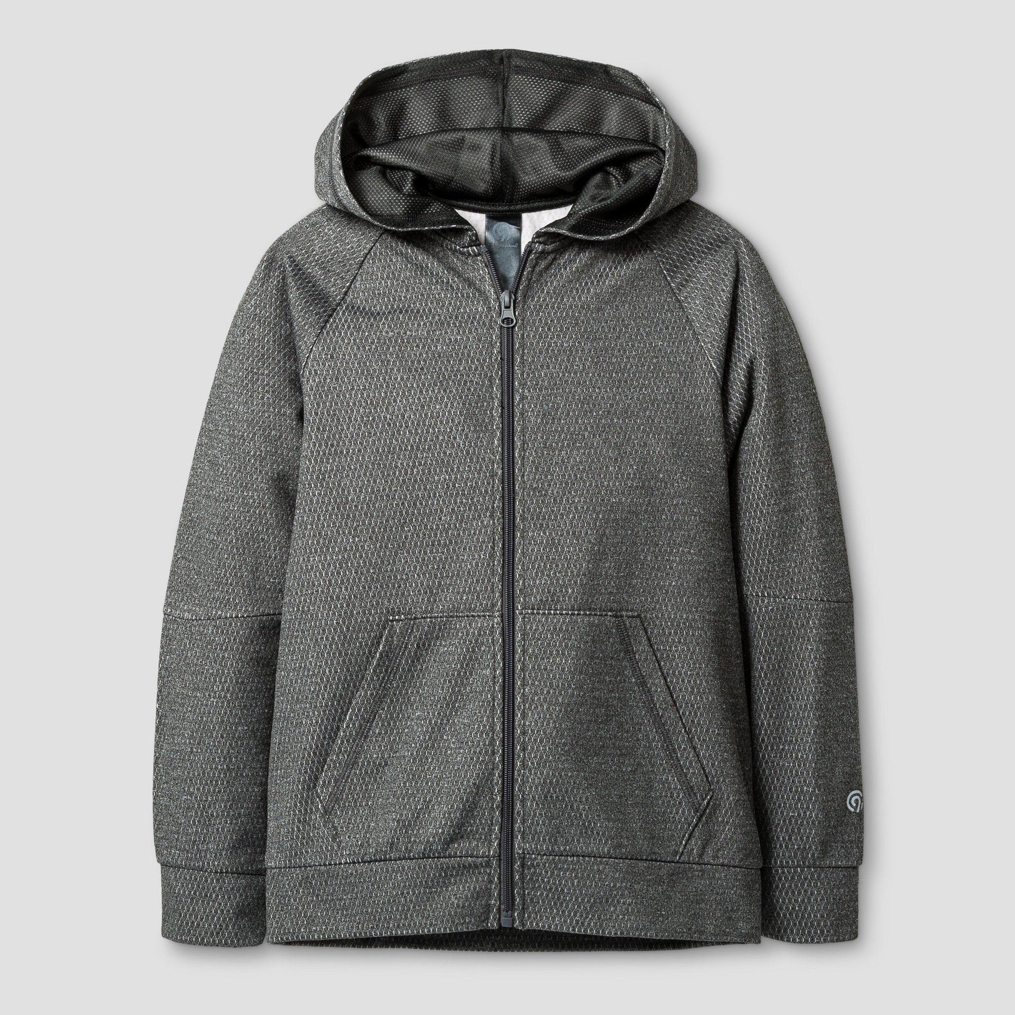 Boys' Textured Tech Fleece Full Zip Hoodie C9 Champion