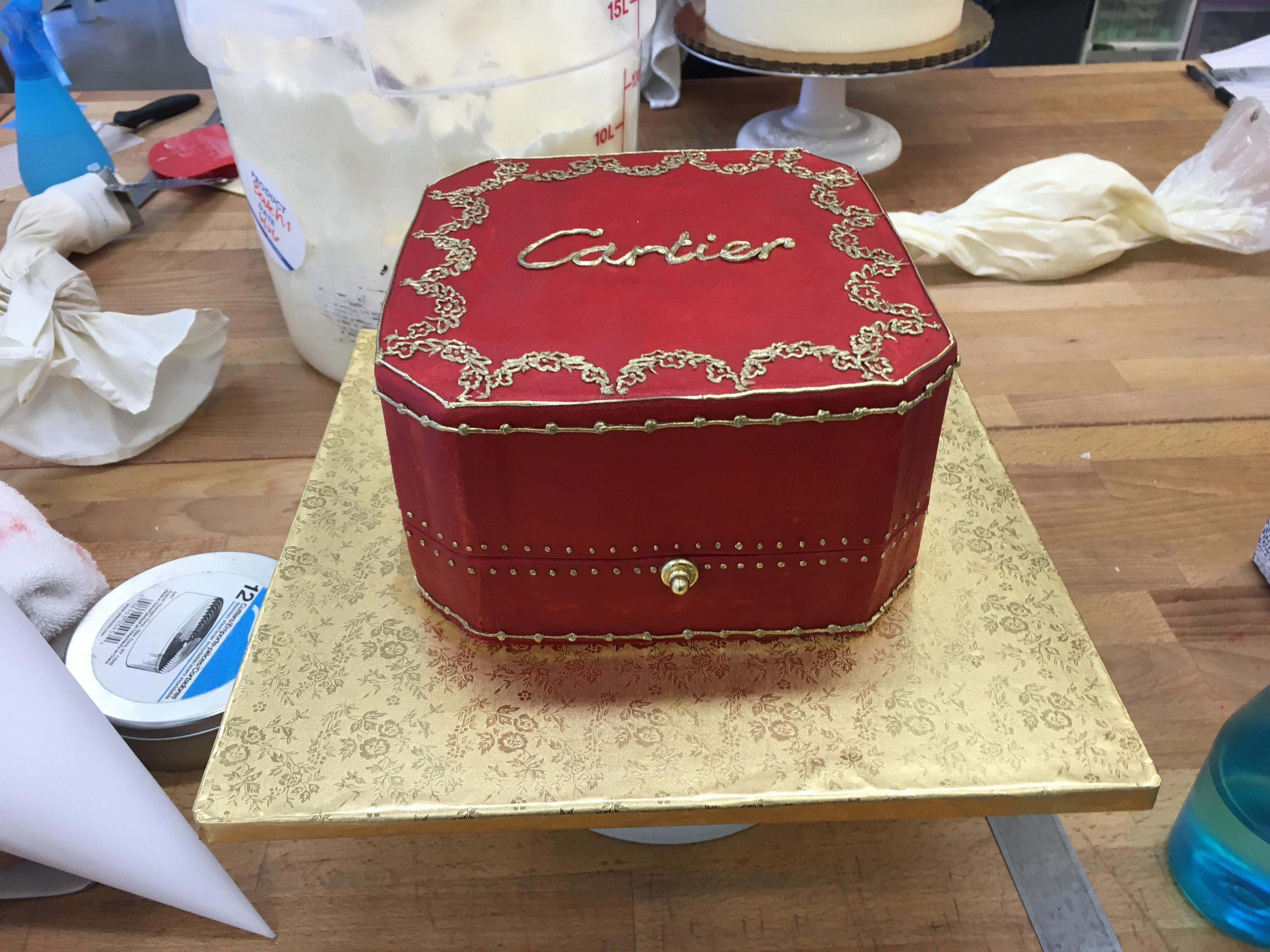 Cartier Box Cake Omg Chocolate Pinterest