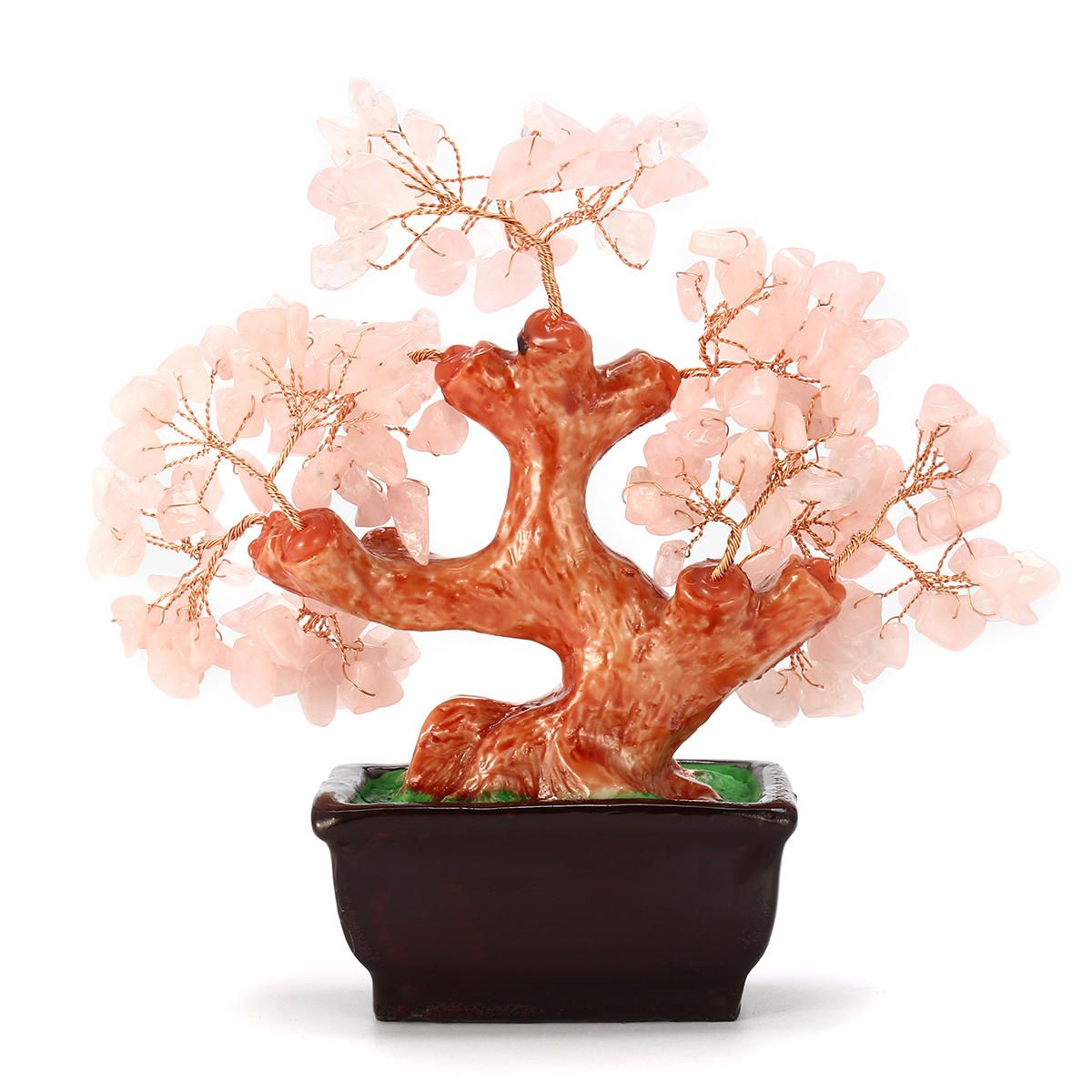Money Wealth Tree Feng Shui Lucky Rich Tree Natural Pretty Crystal Gem Tree Room Decorations In