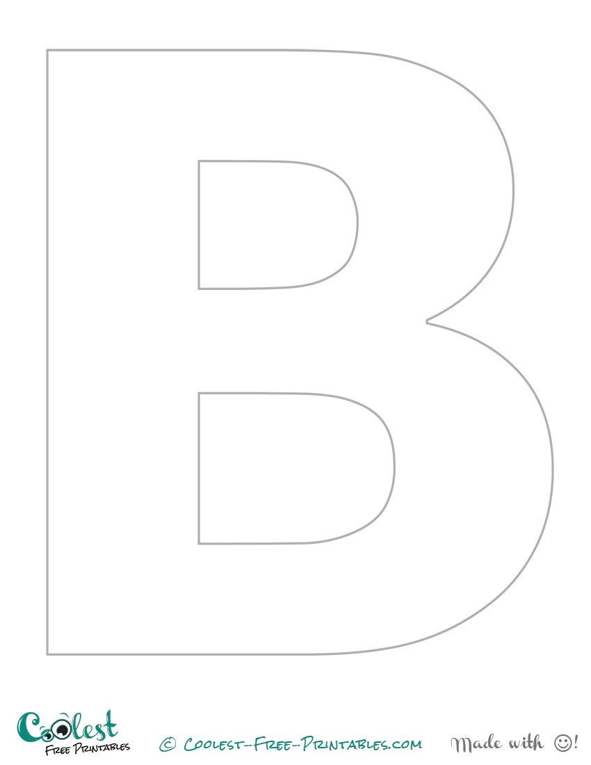 "block letter b template  The Letter ""B"" Printable Stencil (Uppercase) 