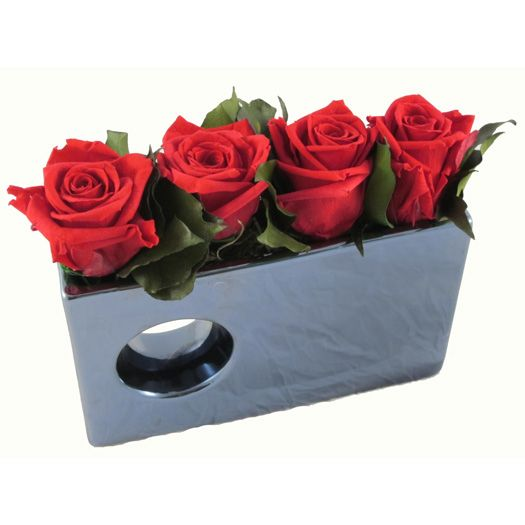 Valentine S Day Modern Modular Vase With Preserved Roses That Last Up To 2 3 Years