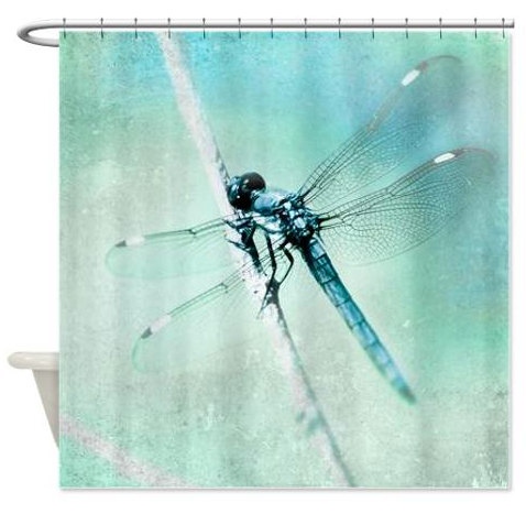 Shower Curtain Dragonfly Shower Curtain by ShadetreePhotography