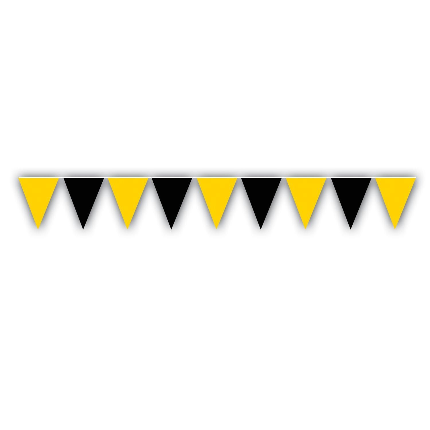 Outdoor pennant banner black u goldenyellow ct products