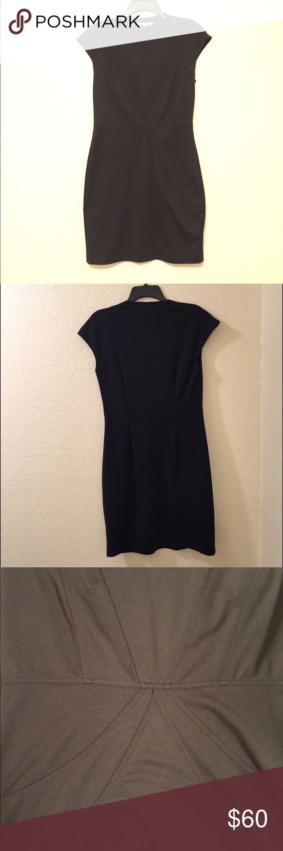 Gianni Bini BLACK Dress Worn and washed once, this dress is in excellent condition. The flattering design hugs your natural curves while still appropriate for a professional environment. There is a small zipper on the left to ensure a comfortable fit. 72% Polyester, 23% Rayon, and 5% Spandex. Gianni Bini Dresses