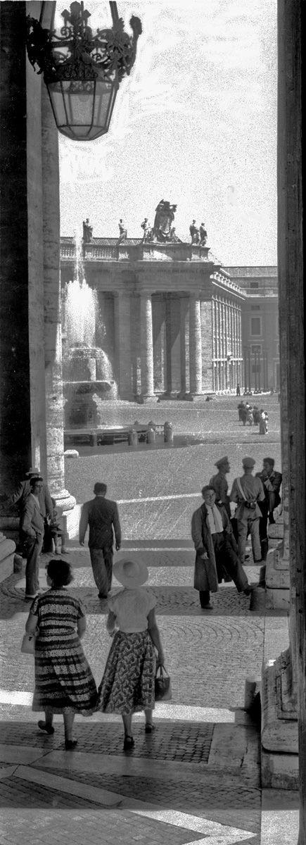 Rom, Petersplatz, 1953, Werner Hense ©