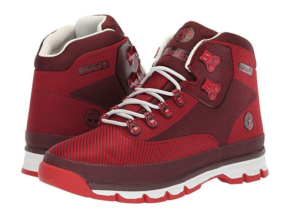2340dfbd857 Timberland Euro Hiker Jacquard (Red Jacquard) Men's Hiking Boots ...