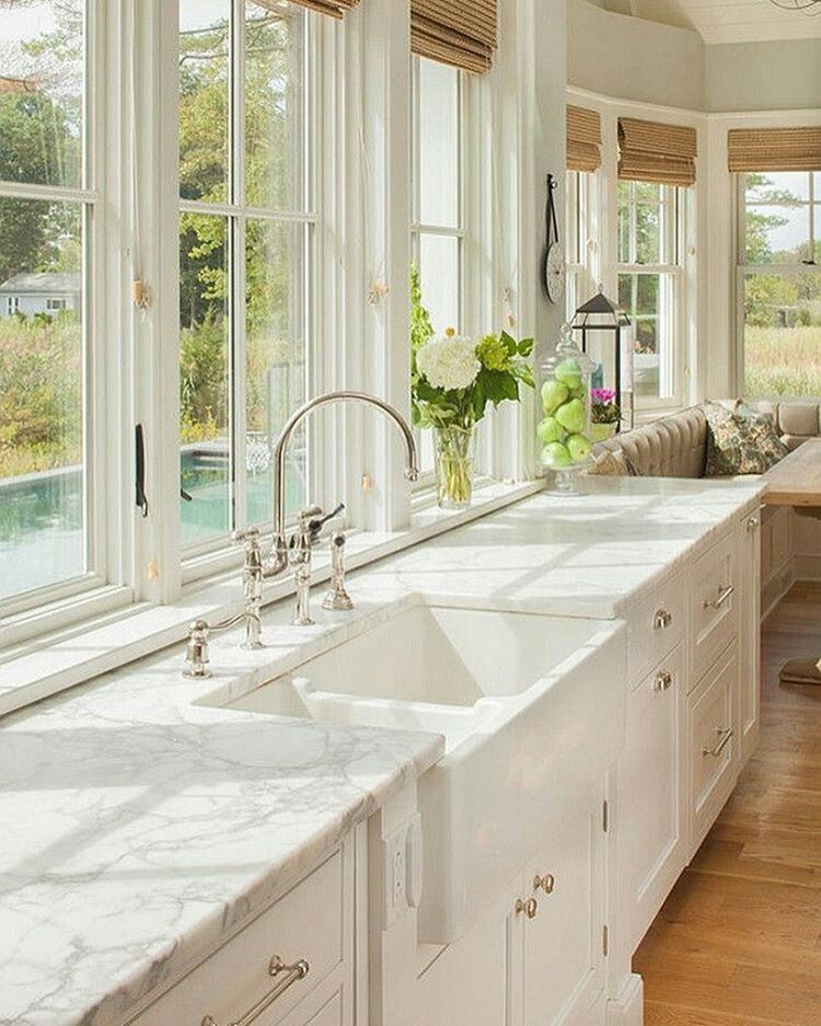 Pin by Ava💜jun on Decor | Pinterest | Kitchens, Kitchen styling Small Cottage Kitchen With Apron Sink Ideas on kitchen island with farm sink, kitchen window trim ideas, kitchen nook with storage seat,