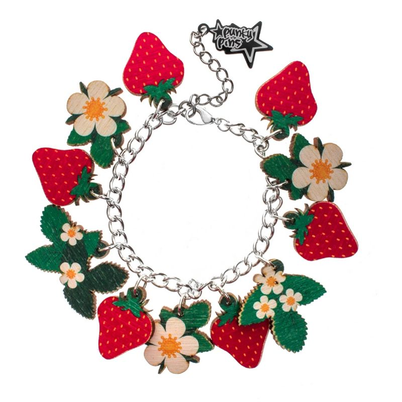 Strawberry Plant Charm Bracelet 0