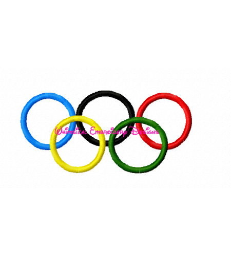 Filled Designs :: Olympic Rings
