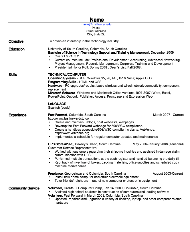 example of tech ind resume http exampleresumecv org example of