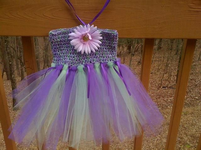 crochet dress and tutu