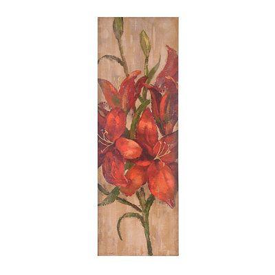 Vivid Red Floral I Canvas Art Print