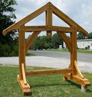 Timber Frame Sign Love This Styling But Needs To Be A Lot Taller Outdoor Wood Signs Business Signs Outdoor Outdoor Wood
