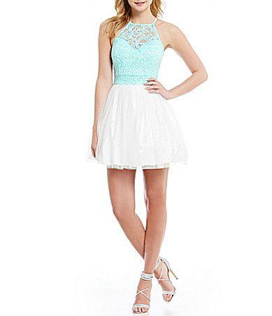 B Darlin sleeveless lace dress