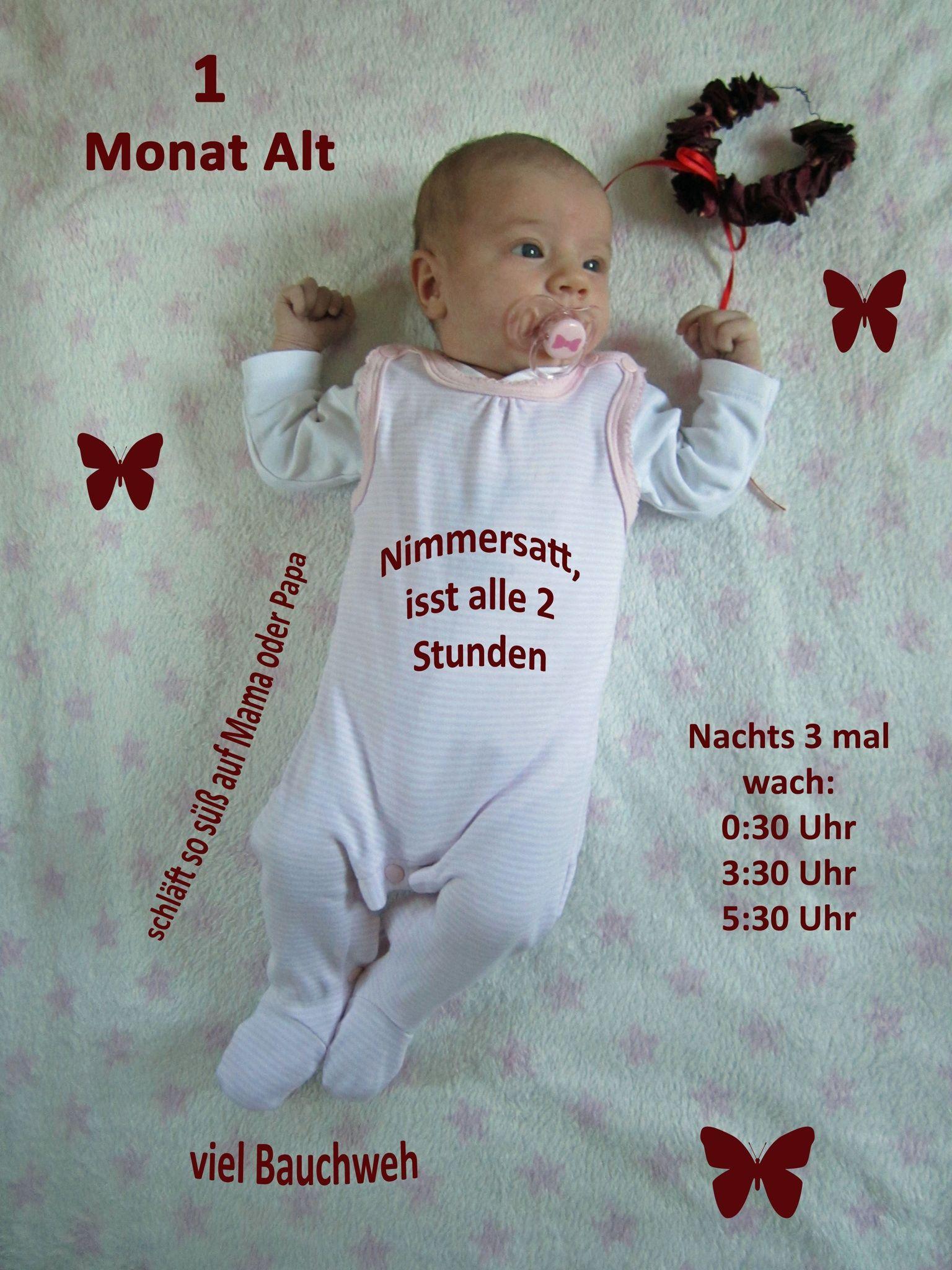 1 Monat alt/ 1 month picture newborn baby | Baby / Kind | Pinterest
