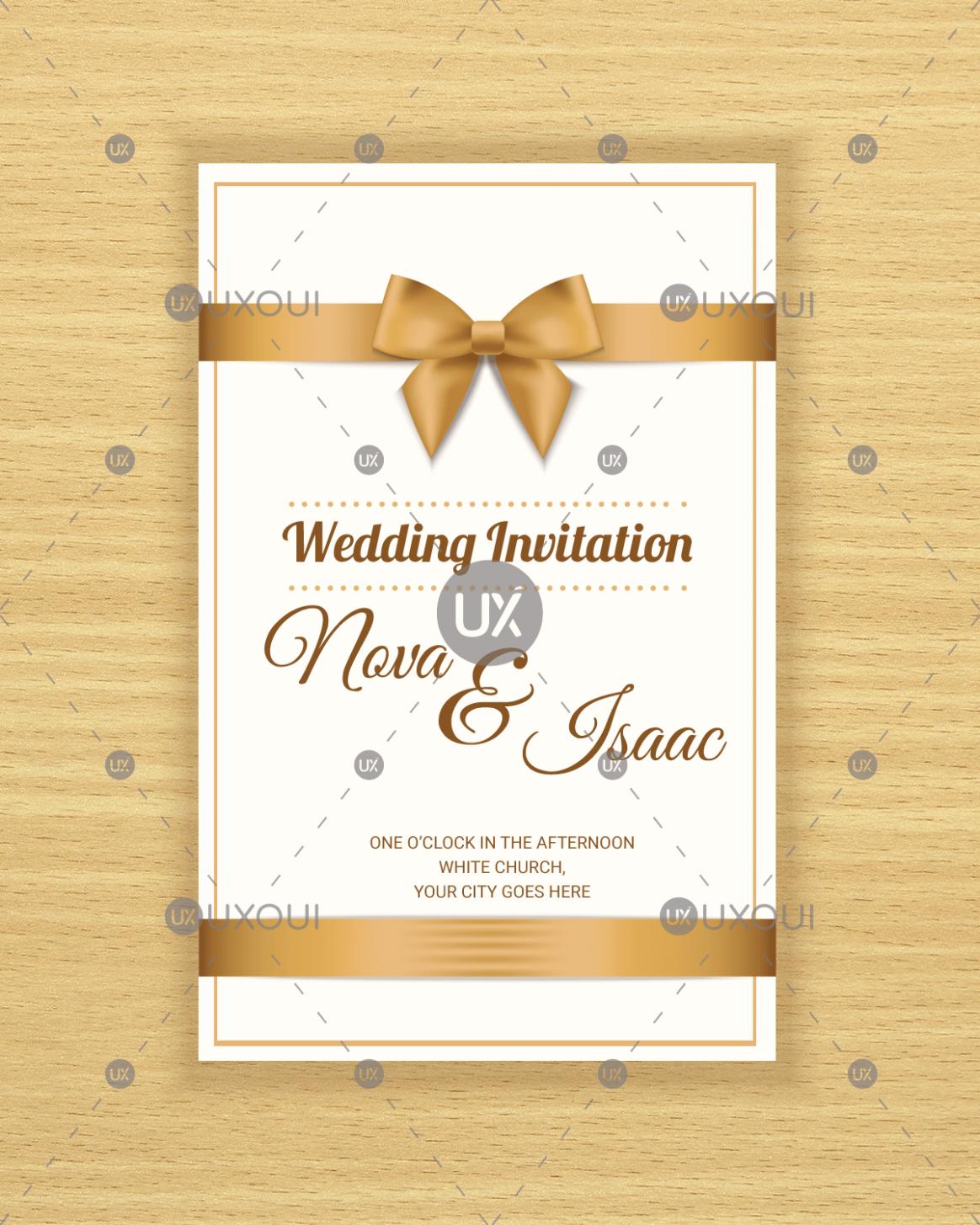 3 Invitation Card Wedding Design en 3  Invitation, Free