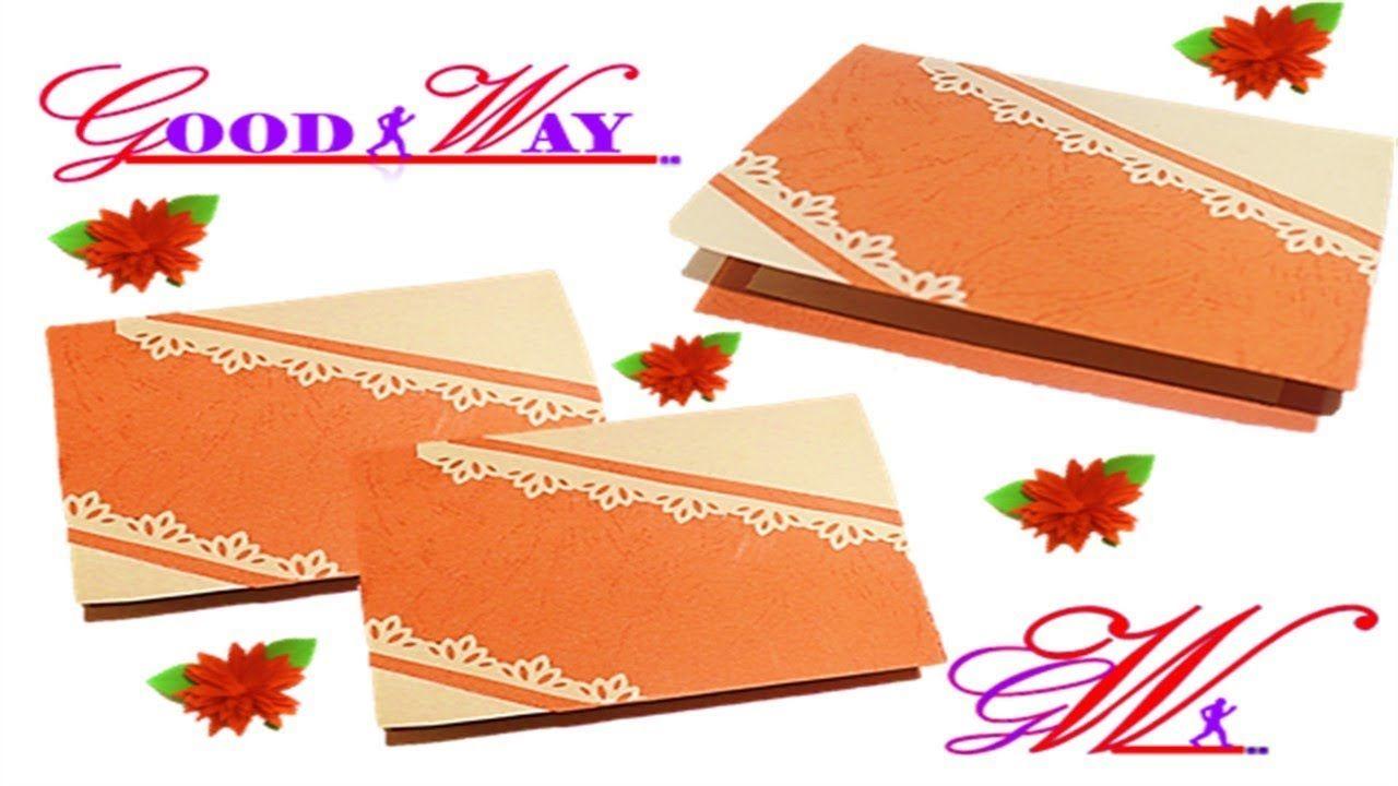 طريقة عمل بطاقة تهنئة أو دعوة أو مطوية Greeting Card Or Invite Hand Art Diy And Crafts Crafts
