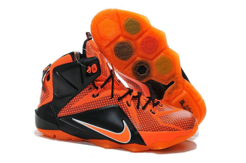 online store 46c3e b7668 WMNS LeBron 12 GS ID XII Total Orange Black