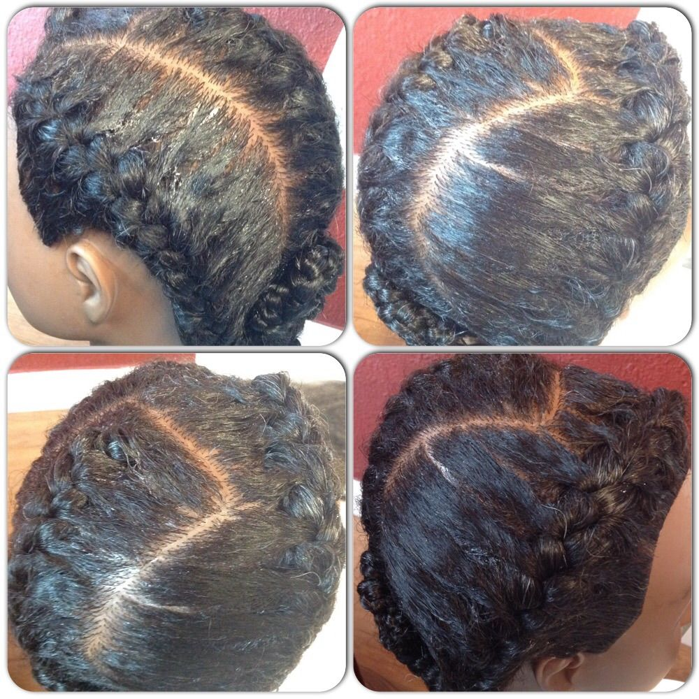Cute goddess braid protective style at hair by dr chele stuff to