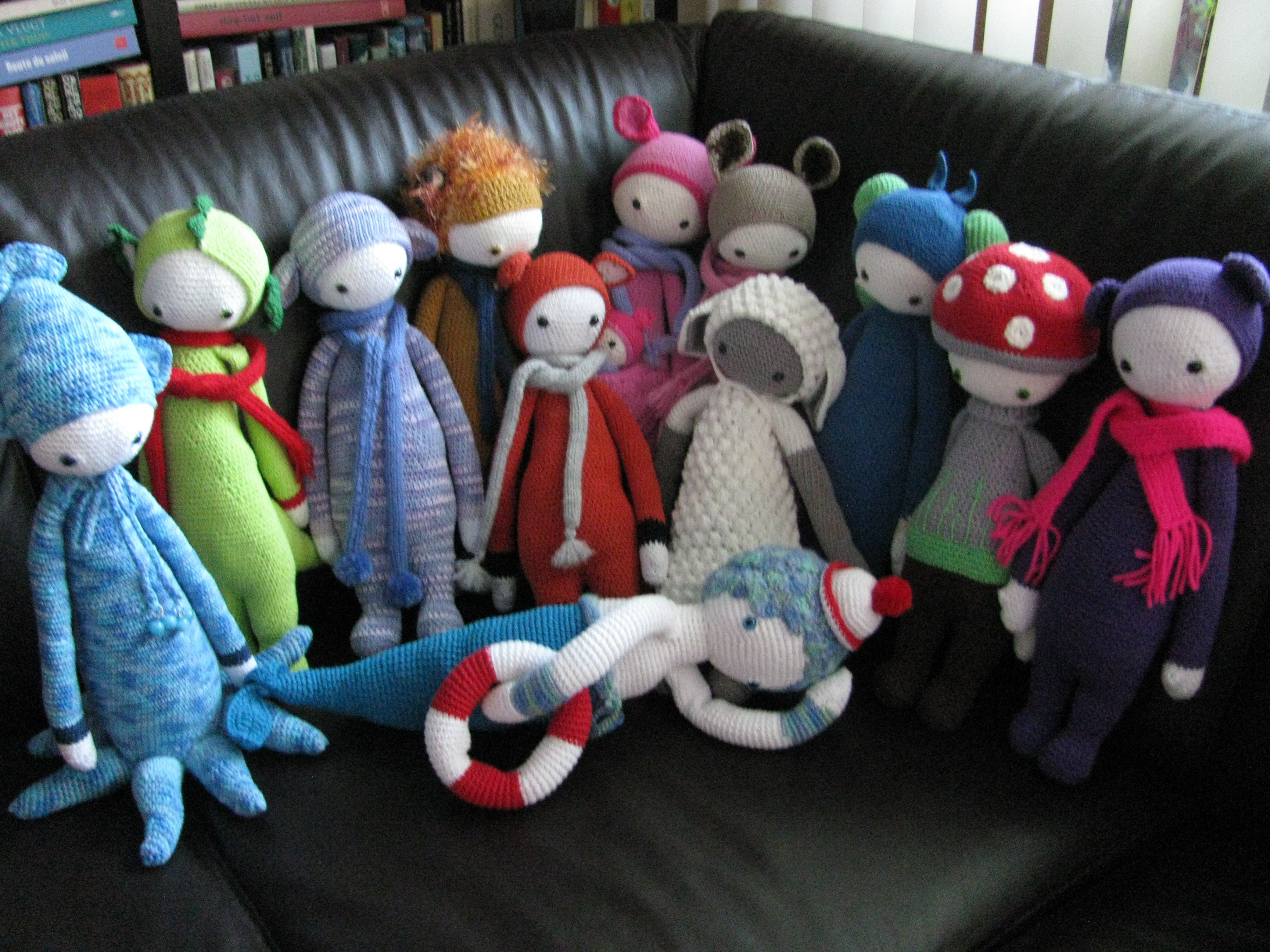 lalylala family made by Jane van der S. / crochet patterns by lalylala